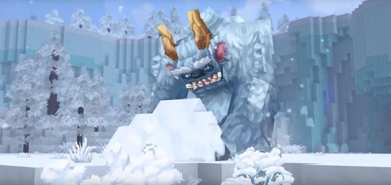雪を持ったモンスター