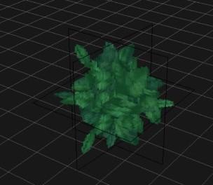 葉の平面図3枚を組み合わせた後